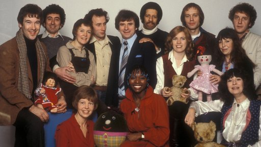 Picture shows (l-r standing) Bruce Allen, Fred Harris, Delia Morgan, Chris Tranchell, Johnny Ball, Derek Griffiths, Carol Leader, Ben Bazell, Chloe Ashcroft, David Hargreaves. (l-r seated) Sarah Long, Floella Benjamin and Carol Chell