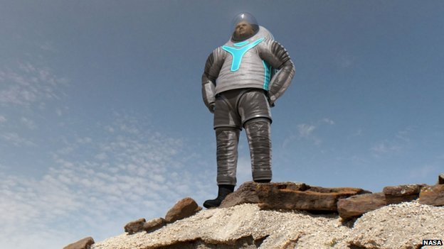 Nasa shows off prototype spacesuit for journey to Mars ...