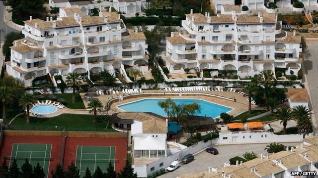 The Mark Warner Ocean Club apartments in Praia da Luz pictured in April 2008