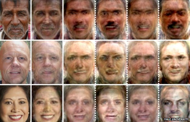 Faces reconstructed from brain scan activity