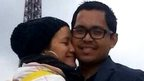 Intan Maizura and husband Mohd Hazrin