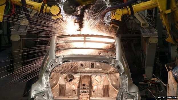 Production line at Sunderland's Nissan plant