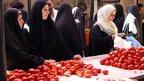 Women at Baghdad market (file photo)