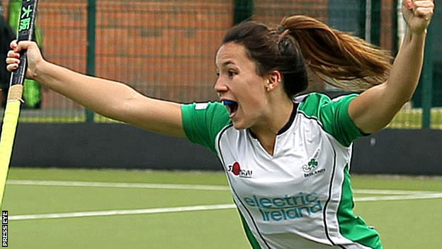 Anna O'Flanagan scored Ireland's second goal against Korea