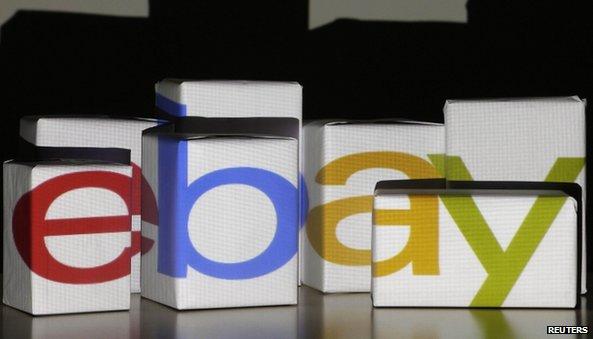 eBay logo on boxes