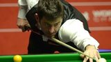 Ronnie O'Sullivan in semi-final action against Barry Hawkins