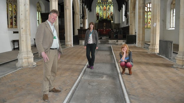 Simon Hallsworth, Carol Gant and Cad Taylor are leading the project to convert St Clement's Church
