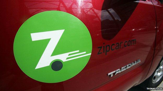 Zipcar closeup
