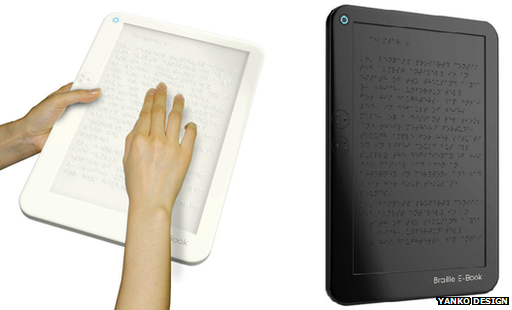 Concept Braille e-readers