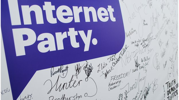 Internet Party logo with signatures