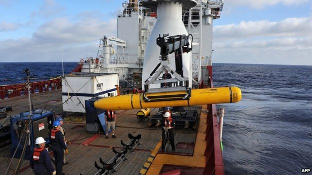File image of Bluefin-21 robotic submersible, deployed from Australian vessel Ocean Shield