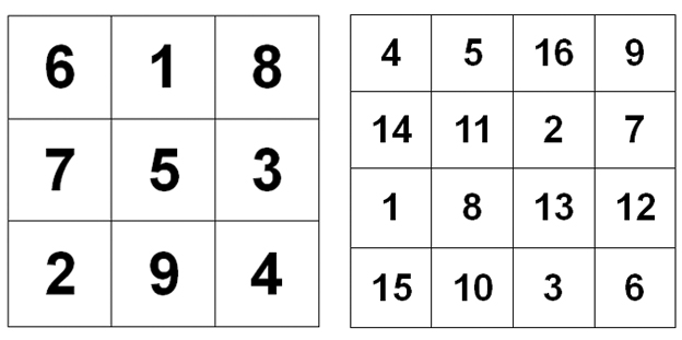 Two magic squares