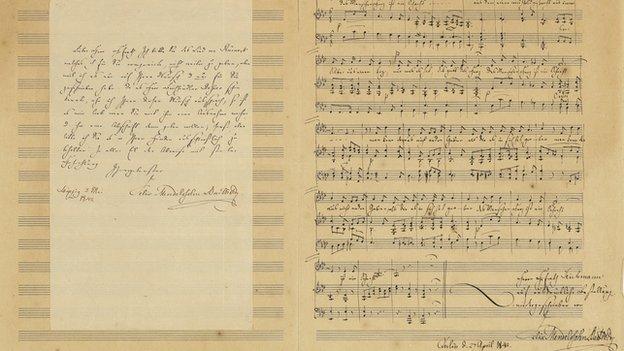 Mendelssohn manuscript