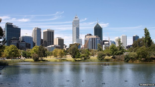 File photo of Perth skyline