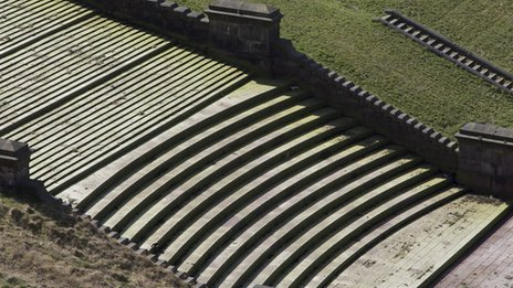 A detail of the Butterley Spillway