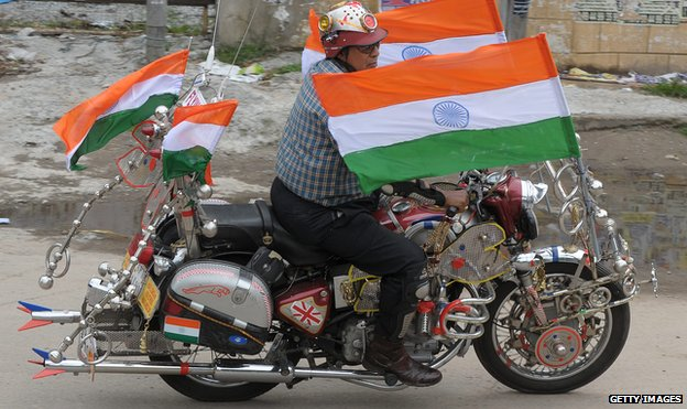 A highly-modified Royal Enfield Bullet