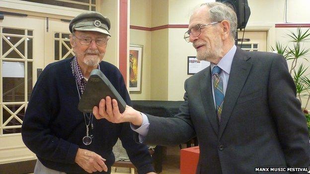 Mr Laurence Kermode wins at Manx festival