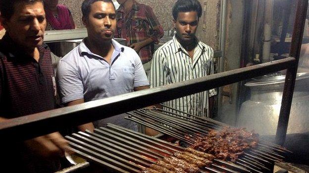 Beef kebab stall