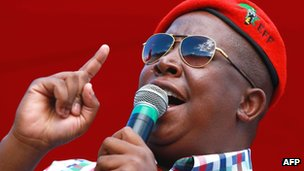 Julius Malema addresses supporters during election campaign rally in Umlazi. 27 April 2014