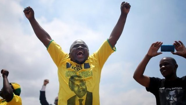 ANC supporters in Qunu on 15 December 2013