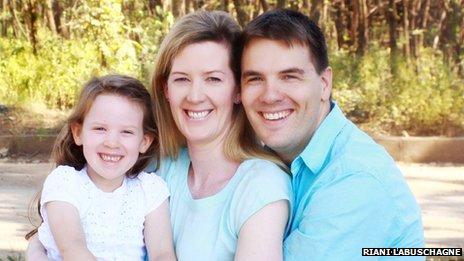 The Sinclaire family portrait shot.