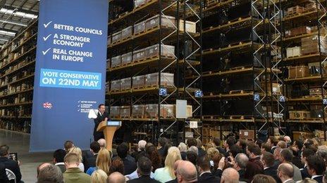 David Cameron speaking in Staffordshire
