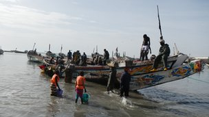 Fishermen in Mauritania
