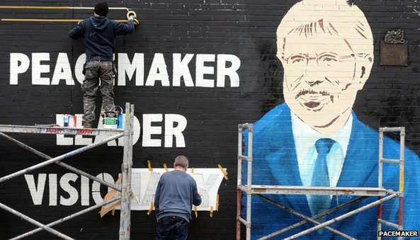 New mural of Gerry Adams