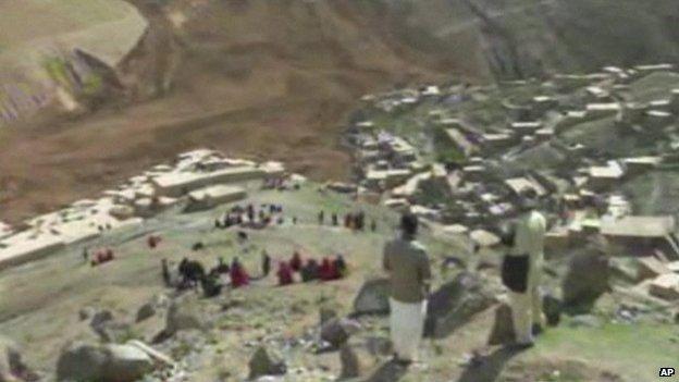 Television images show extent of landslide