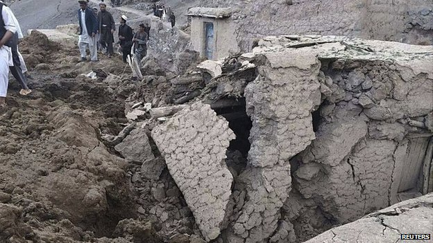 Landslide in Argo district in Badakhshan province