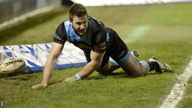 Tommy Seymour scored the first try of the match