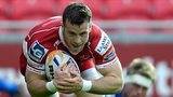Gareth Davies goes over for Scarlets