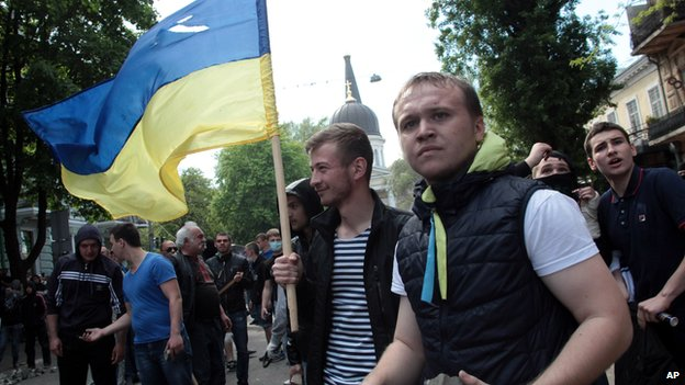 Ukrainian government supporters, Odessa, 2 May