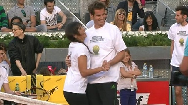 Cristina Pedroche and Andy Murray
