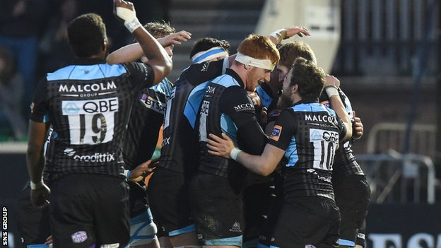 Glasgow are second in the Pro12 table