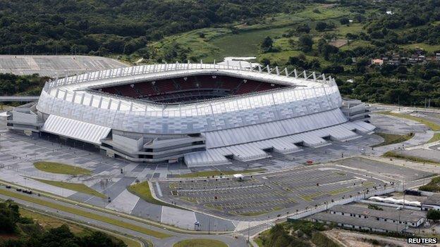 Arena Pernambuco in Recife (file pic)