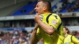 Paul Caddis celebrates after scoring Birmingham's crucial late equaliser