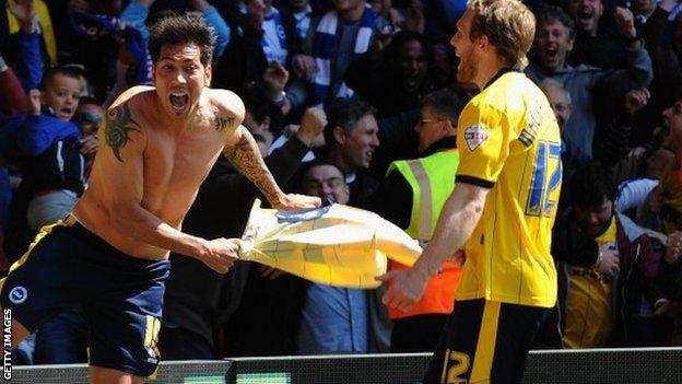 Brighton celebrate second goal