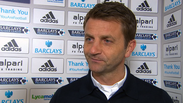 West Ham 2-0 Tottenham: Tim Sherwood praises second half spirit