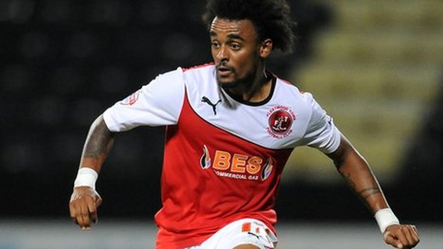 On-loan winger Junior Brown was sent off for Tranmere against Bradford City.