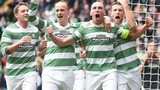 Celtic celebrate a Scott Brown goal