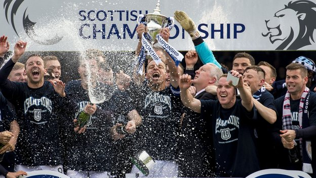 Dundee celebrate their title win