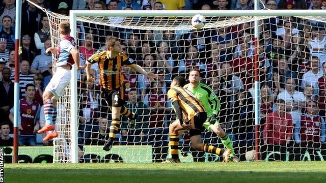 Hull City conceded in the first minute at Villa Park