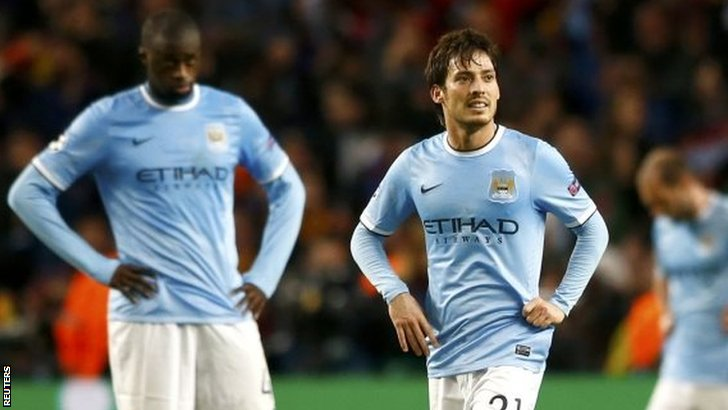 Yaya Toure and David Silva