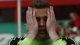 Dejected Fulham keeper David Stockdale