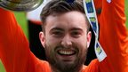 Mark Patton celebrates Glenavon's cup final victory