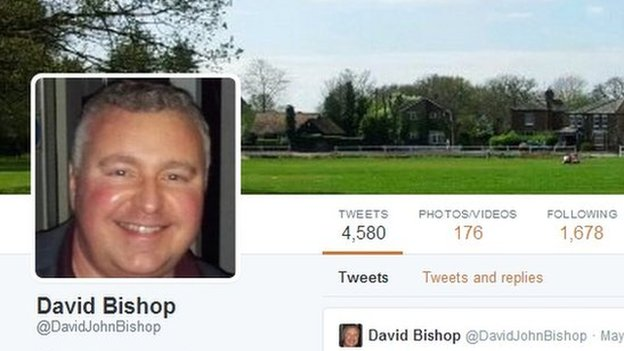 David Bishop's Twitter account