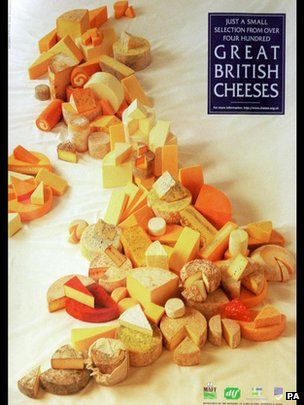 A map of British cheeses