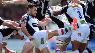 Danny Care was one of Quins' four try scorers at The Stoop