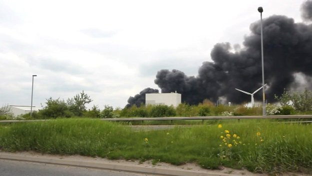 hull recycling plant fire